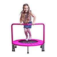"PLENY 36"" Kids Mini Trampoline with Handle, Safety and Durable Toddler Trampoline - 3 Colors Available"