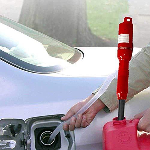 SHKY Flüssigkeits- / Kraftstoffübertragungs-Siphonpumpe, 50 mm Wasseröl, Dieselkraftstoffübertragungs-Zigarre für Auto/Motorrad/Fahrzeug/Boot, für Rasenmäher und manuell,Red,24v