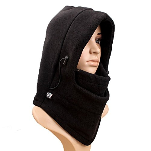 Neck Warmer Ski Hat,Richoose Double Layers Thermal Warm Fleece Thicken Balaclava Hood Full Face Cover Mask Winter Wind Proof Stopper Hat Neck Warmer For Outdoors Snowboarding Ski Motorcycle