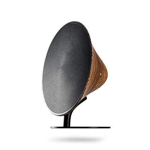 D-JIU Drahtlose Bluetooth-Telefon-Lautsprecher mit Super Bass, Creative Wood Grain Home Audio, Life Bluetooth Speakers Desktop Subwoofer mit NFC Retro Speakers,Black (Desktop-subwoofer)
