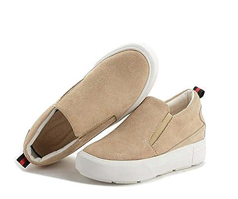 Costumes De Danse Rhinestone Designs - Hidden Heel Leather Women Shoes Flat Loafers