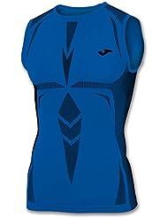Joma Brama Emotion - Camiseta térmica sin mangas para hombre, color azul, talla L-XL