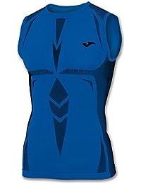 Joma Brama Emotion - Camiseta térmica sin mangas para hombre, color azul, talla S-M