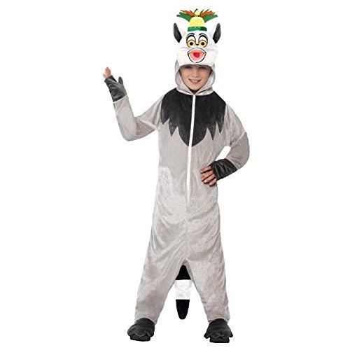 KOSTÜM KING JULIEN MADAGASCAR KIND DER LEMUR LICENSED (Kostüm Kinder Lemur)