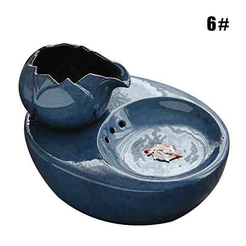 Lakote Cat Ceramic Water Fountain Automatischer Trinkbrunnen für Haustiere Ruhiger elektrischer Wasserspender