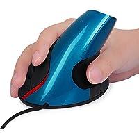 Ergonomico verticale ottico USB Mouse metallico a