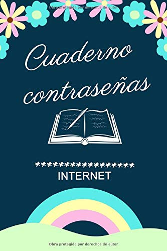 Cuaderno contraseñas internet: A5 Libro para almacenar todas sus contraseñas, páginas alfabetizadas, discreto registro de contraseñas de internet, emails, cripto wallets o billeteras electrónicas