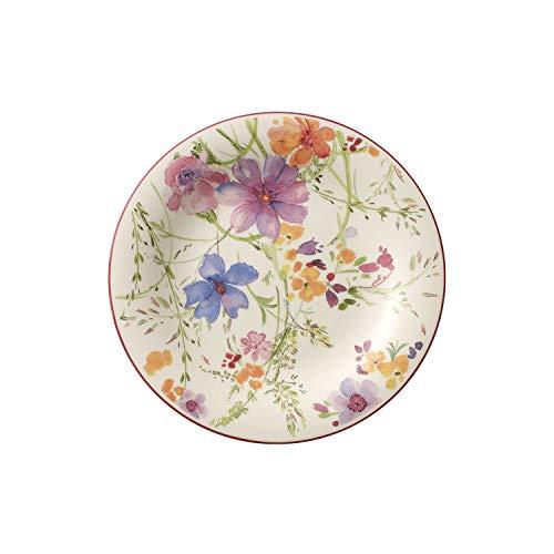 Villeroy & Boch Mariefleur Basic Assiette petit-déjeuner, 21 cm, Porcelaine Premium, Blanc/Multicolore