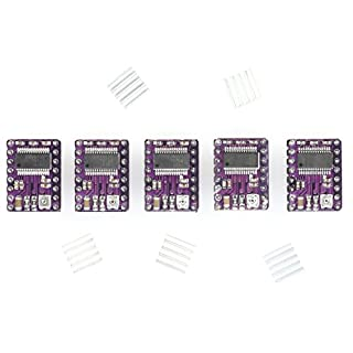 Paradisetronic.com 5x DRV8825 Schrittmotor-Treiber-Modul mit Kühlkörper, z.B. für RAMPS 1.4, CNC-Shield, 3D Drucker, Prusa Mendel