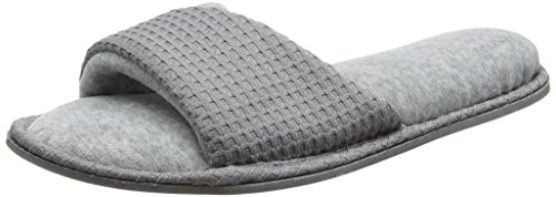 Dearfoams Slide, Chaussons Mules Femme Grey (Medium Grey)