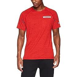 Puma Energy S/S tee Camiseta, Hombre, Rojo (Flame Scarlet Heather), M