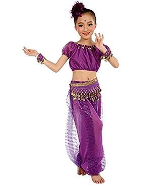 Ularma Los niños danza del vientre trajes Egipto y paño de danzas de la India