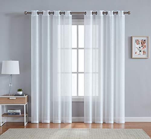 DecoSource Fenstervorhänge für Schlafzimmer, Wohnzimmer, Küche, Kinderzimmer, Outdoor, strapazierfähiges Polyester, 2 Stück 54