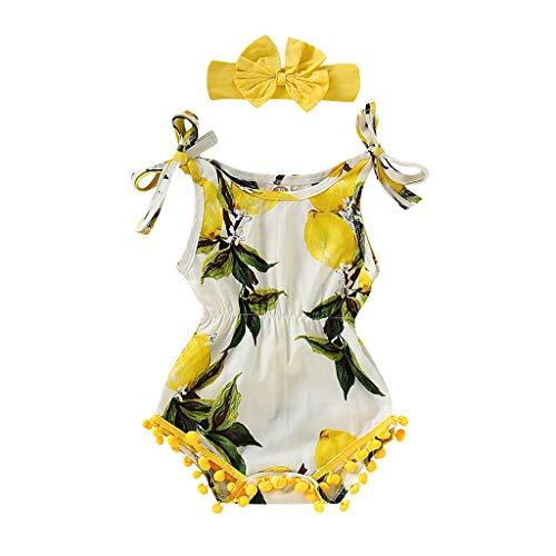 DWQuee Baby Mädchen Kleidung Set Hosenträger Strampler+Stirnbänder Outfits für 0-24 - Baby Jungen Schwimmen Kostüm 0 3 Monate