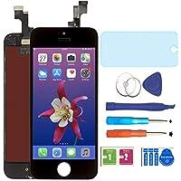 """AUODA Écran LCD Display Complet Tactile Remplacement &Protection d'écran Kit de Réparation pour iPhone 5S (4.0"""")(Noir)"""