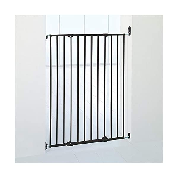 Bettacare Extra Tall Screw Fitted Safety Gate Black Bettacare Fits openings from 62.5cm to 106.8cm Screw fitted black or white powder-coated steel gate One-handed operation 4