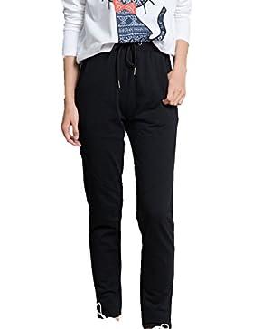 CTOOO Pantalon De Mujer/pantalones Elasticos Casual/color Gris /talla S-2XL
