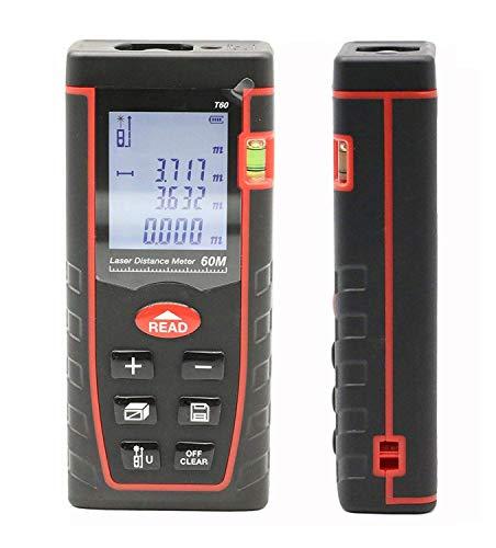 ATOMICO Digitales Entfernungsmessgerät, Wasserdichter Laser-Entfernungsmesser mit hoher Präzision, mit LCD-Bildschirm für Entfernung, Fläche und Volumen, Pythagorean-Modi,60m (Ball-bildschirm Golf)