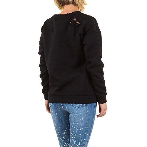 Sixth June Destroyed Sweatshirt Für Damen bei Ital-Design Schwarz