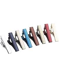 Zysta Pinces à cravate Clip Tie Fantaisie Homme Cadeau 33mm Acier Inoxydable Finition Brillante Poignet Manchette Chemise Cérémonie Mariage Travail Slim Elegant Delicat couleurs variée