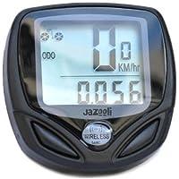 Jazooli Wireless LCD Bike Computer Speedo Odometer Waterproof Speedometer Cycle Bicycle