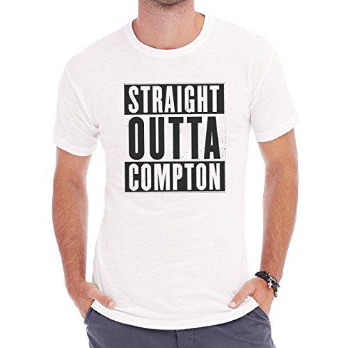 Straight Outta Compton Black And White Herren T-Shirt Weiß