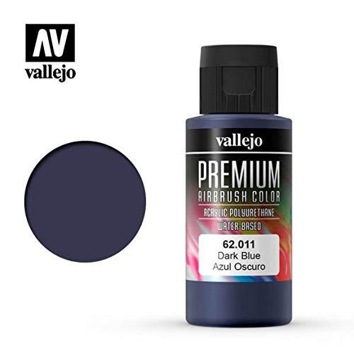 Vallejo PREMIUM RC colori acrilici per modellismo/aerografia 60 ml (62011 Dark Blue)