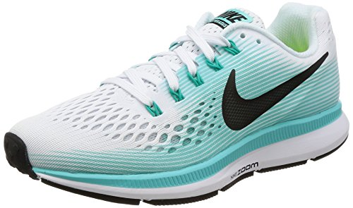 Nike Damen Wmns Air Zoom Pegasus 34 Laufschuhe, Elfenbein (White/Black/Aurora Green), 38.5 EU (Air Wmns)