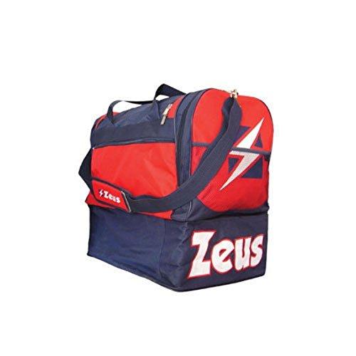 Zeus Herren Sporttasche Schultergurt Umhängetasche BORSA DELTA (BLAU-ROT) BLAU-ROT