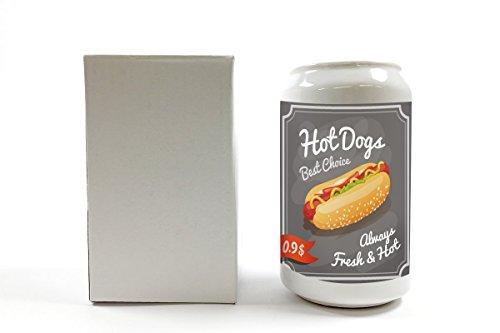 Spardose Essen Restaurant Hot Dog Keramik bedruckt (Hot-dog-toy-essen)