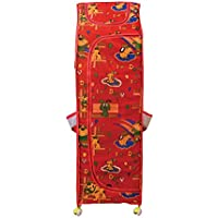 DearJoy Multi-purpose Foldable Kids Almirah / Toy & Storage Box with 6 shelves (Red)