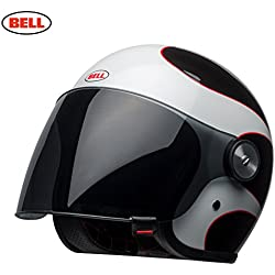 BELL casques Riot Boost, Blanc/noir/rouge, taille S