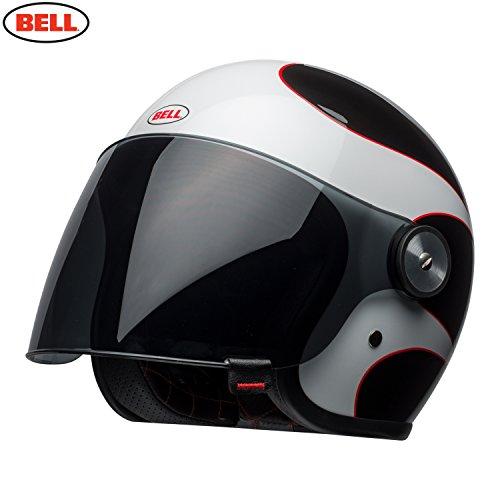 Bell Cascos Riot Boost, color blanco/negro/rojo, tamaño 2X L