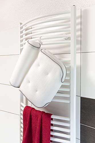 Badewannenkissen Moal Dsign Badekissen mit Saugnäpfen Kopfstütze für Badewanne Nackenkissen für Badewanne Badewanne Zubehör Badewannenkissen in Weiß