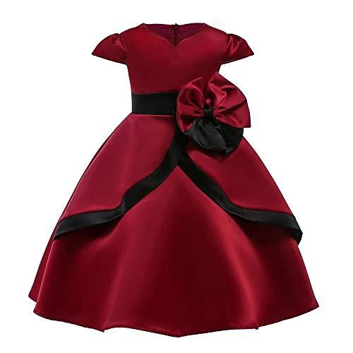 QJKai Mädchen Kleid Dress up Kids Kurzarm Prinzessin Fan ()