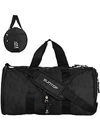 Suntop Black Foldable Gym Bag (23 Litres)