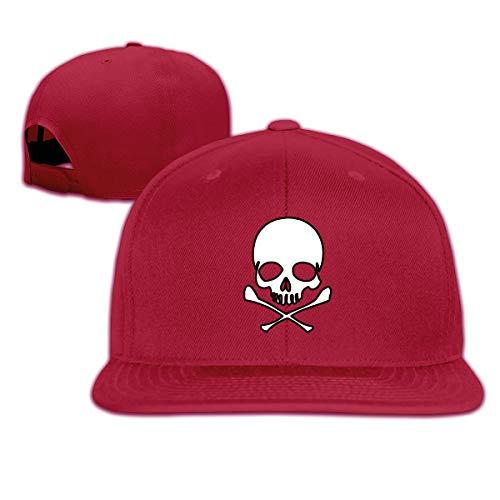 Osmykqe Head Skull with Crossbone Flat1 Leichte atmungsaktive Outdoor-Laufmütze Athletic Baseball Fitted Caps für Herren