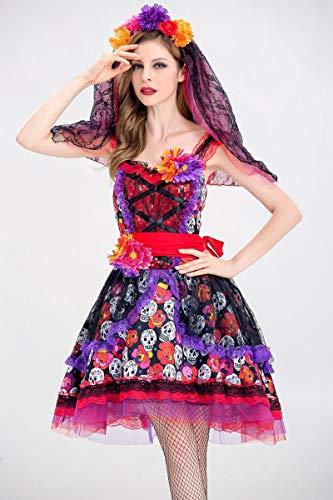 Simmia Halloween Kostüm,Halloween Horror Braut Verloren Kostüm Blume Rock Tutu Prinzessin Kleid Ghost Festival, 8527, M (Tutu Ghost Kleid)