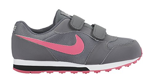Nike Corredor Menina Md 2 Tênis, Cinza - Cinza (cool Rosa Cinza / Hiper / Preto 002)
