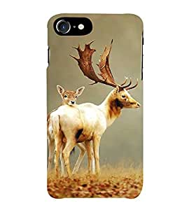 FIOBS Dear Couples in nature zoo Designer Back Case Cover for Apple iPhone 7
