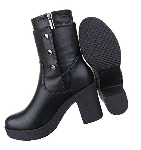 Botas 37 40 Preto Sapatos Stiefeletten 39 Senhoras 41 38 36 Planalto 7Y1qxd