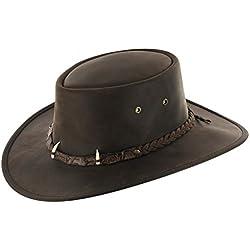 Sombrero de Piel Croc by BARMAH sombrero outdoorsombrero de piel (L/58-59 - marrón)