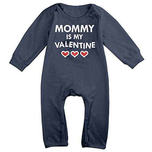 TOPDIY Mommy is My Valentine Long Sleeve Baby Romper Bodysuit Outfits Clothes Valentine Infant Bodysuit