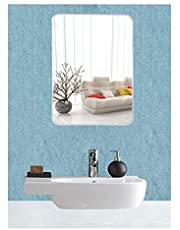 EyeonBay Kichen & Home Appliances Frameless Mirror Glass for Wall, Bathroom Home Decor (Size 20 x 14 Inches, White)