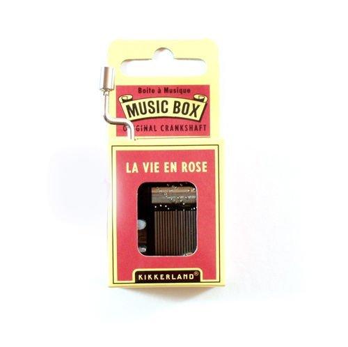 Kikkerland Kurbelwelle Spieluhr - La Vie en Rose (Music Rose Box)