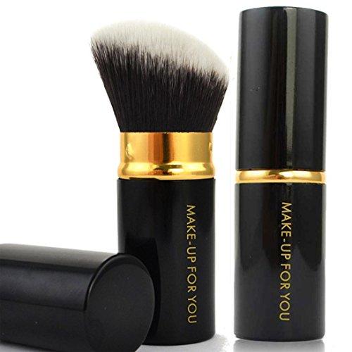 Cosmétique étui Diadia Retractable Kabuki Blush Fond de teint poudre Maquillage Brosse Kit-soft Brosse, poignée en plastique, facile à Make Up