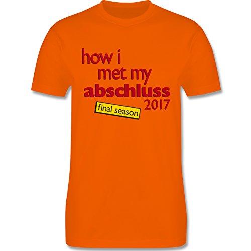Abi & Abschluss - How I met my Abschluss 2017 - Herren Premium T-Shirt Orange