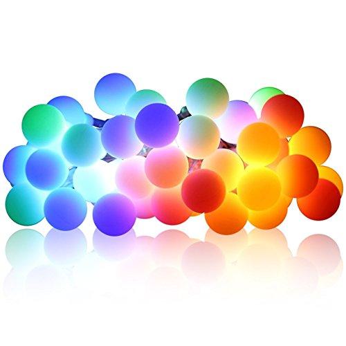 InnoWill Lichterkette 2,5 M 20pcs Ball LEDs String Licht Batterie betrieben Festival Beleuchtung (Bunt) (Spiegel-ball-licht)