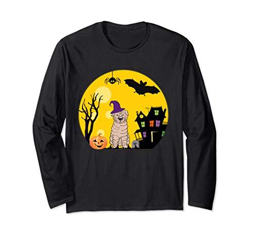 Kostüm Shar Pei - Shar Pei Hunde-Halloween-Kostüm gruselig Vollmond Langarmshirt