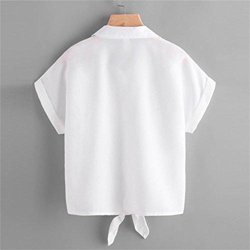 ... LHWY Damen Bluse Damen Rose Blume Bluse Kurzarm Hemd Damen Shirt White  ...